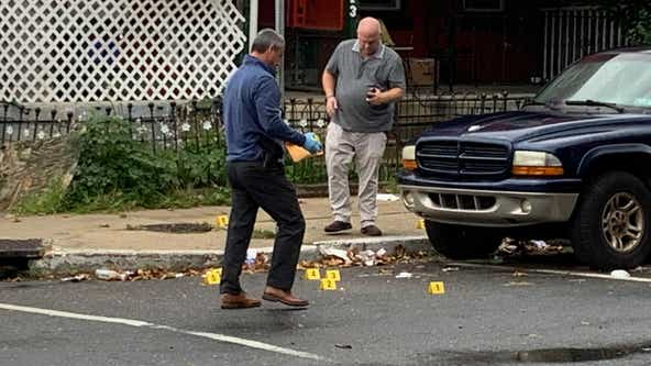 Drive-by quadruple shooting erupts on same block as deadly double shooting, police say