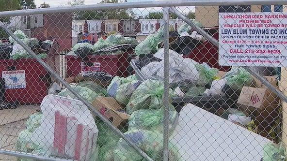 Overflowing trash, sidewalk sewage an issue at Philadelphia school