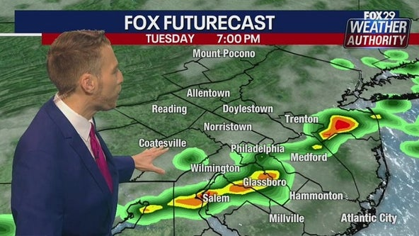 Scattered storms to bring rain, gusty winds to Delaware Valley Tuesday