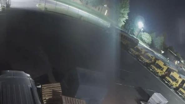 Surveillance video shows theft of catalytic converters from school buses in Burlington County