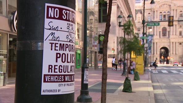 Road closures, parking restrictions issued for Center City on Monday