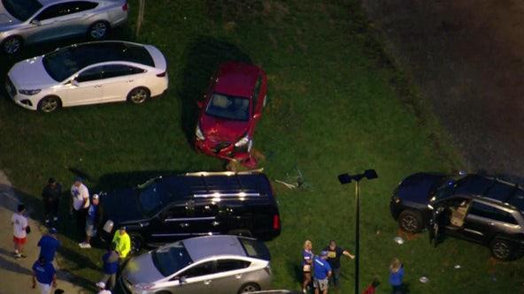 3 hurt in multi-vehicle crash in parking lot of Delaware high school, police say