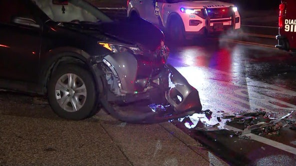 2 hurt in multi-car crash involving fire truck in East Germantown, police say