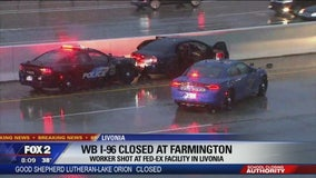 Suspect shot by police during high-speed chase on I-96 in Livonia