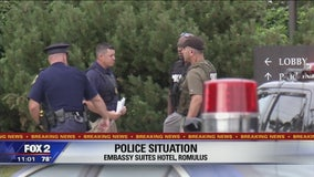Romulus hotel on lockdown for police situation