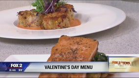 Valentine's Day menu at Prism