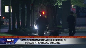 Suspicious person prompts shutdown of Cadillac Place