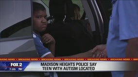Amber Alert called off, teen with autism found safe in Madison Heights