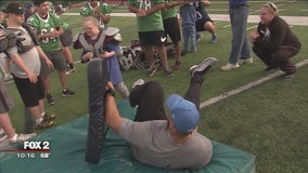 Novi Wildcats host Fantasy Football Camp for kids with special needs