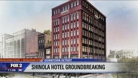 Bedrock and Shinola break ground on Shinola hotel