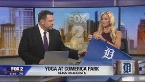 Yoga at Comerica Park
