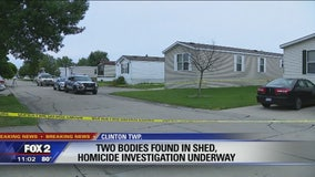 Two bodies found in trash bags behind Clinton Twp mobile home