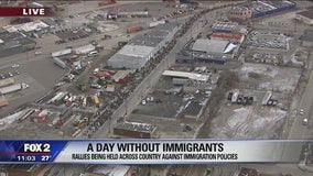 Hundreds join Day Without Immigrants march in Detroit