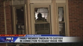 Family member arrested after teen killed in 'suspicious' Sterling Heights house fire
