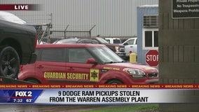 Nine Dodge Ram trucks stolen off Warren Assembly Plant storage lot