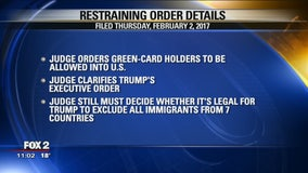 Detroit federal judge issues halt on Trump's travel ban