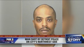 Young man critically injured when shot by Detroit police officer