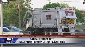 Person hit, killed by garbage truck on Detroit's east side