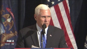 Vice presidential nominee Pence talks jobs, economy in Shelby Twp