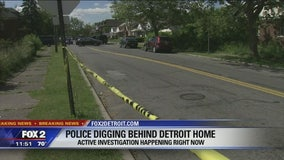Detroit Police, FBI dig behind home on east side in missing persons cases