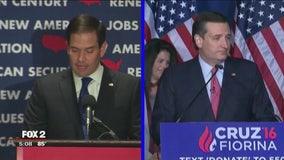 Former rivals Carson, Cruz & Rubio support Trump in Cleveland