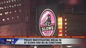 Police investigating break-in at Slows Bar Bq
