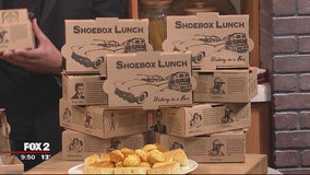 Beans and Cornbread serving shoebox lunches during Black History Month