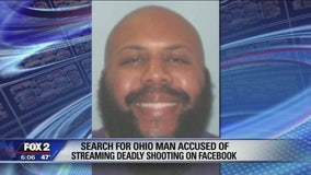 Search for Ohio Facebook murder suspect widened to Michigan