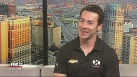 Simon Pagenaud at Grand Prix Day at Comerica Park