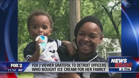 Detroiter shares photos after officers buy her family ice cream
