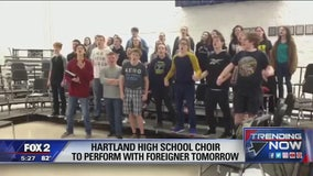 Hartland HS choir to perform with Foreigner at tonight's concert