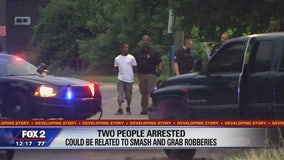 Two arrested, possibly related to string of smash-and-grabs