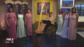 Cass Tech's Harp and Vocal Ensemble fundraising for competition