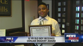 12-year-old honored for saving mom