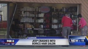 Jeep crashes into BoRics in Oakland County