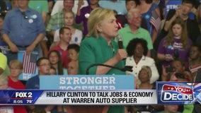 Hillary Clinton to tout jobs plan in Warren