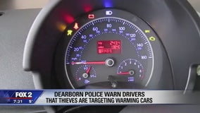 Dearborn police warn thieves are targeting warming cars