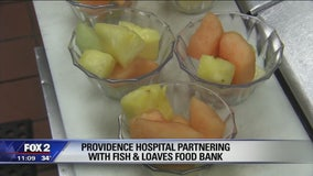 Providence Hospital donating unused food to pantry in Taylor