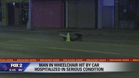 Man in wheelchair seriously hurt by hit-and-run driver on Woodward