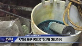 Plating shop ordered to shut down in Madison Heights