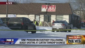 1 dead, 1 hurt in shooting in Clinton Township business