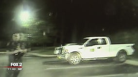 Romulus PD look for suspect who stole police cruiser
