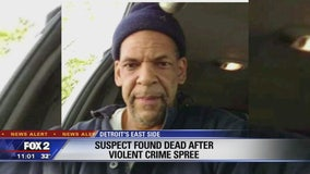 Suspect found dead, ending overnight manhunt that stretched from Canton to east Detroit