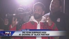 Big Sean surprises Detroit students at 'Black Panther' movie
