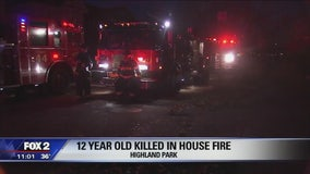 Boy, 12, killed in house fire in Highland Park