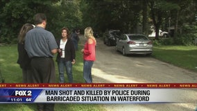Waterford police shoot, kill barricaded man who charged at officer