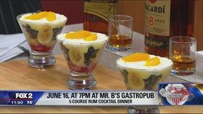 5 course rum cocktail dinner at Mr. B's June 16