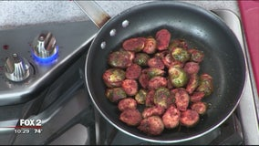 Rock City Eatery's spicy roasted brussel sprouts