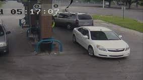 Child escapes minivan moments before thief drives off