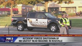 Gratiot closed in Roseville after man hit by car